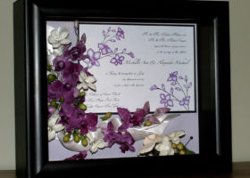 Wedding Day Freeze Dried Floral Model #4719